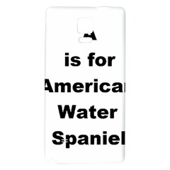 A Is For American Water Spaniel Galaxy Note 4 Back Case