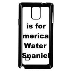 A Is For American Water Spaniel Samsung Galaxy Note 4 Case (black)