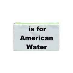 A Is For American Water Spaniel Cosmetic Bag (xs)