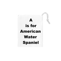 A Is For American Water Spaniel Drawstring Pouches (xs)