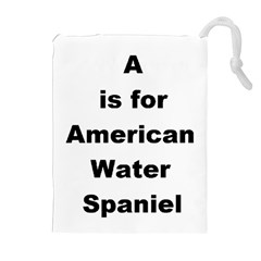 A Is For American Water Spaniel Drawstring Pouches (extra Large)