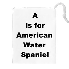A Is For American Water Spaniel Drawstring Pouches (xxl)