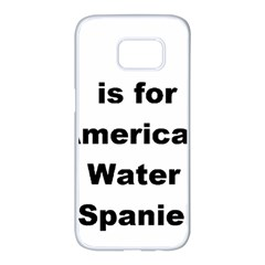 A Is For American Water Spaniel Samsung Galaxy S7 Edge White Seamless Case