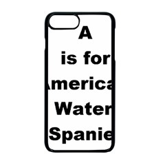 A Is For American Water Spaniel Apple Iphone 7 Plus Seamless Case (black)