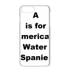 A Is For American Water Spaniel Apple Iphone 7 Plus White Seamless Case