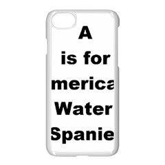 A Is For American Water Spaniel Apple Iphone 7 Seamless Case (white)