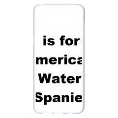 A Is For American Water Spaniel Samsung Galaxy S8 Plus White Seamless Case