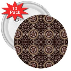 Oriental Pattern 3  Buttons (10 Pack)