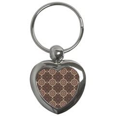 Oriental Pattern Key Chains (heart)