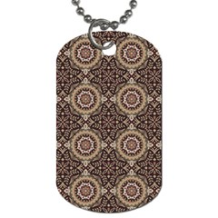 Oriental Pattern Dog Tag (two Sides)