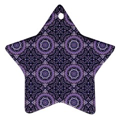 Oriental Pattern Star Ornament (two Sides)