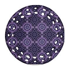 Oriental Pattern Round Filigree Ornament (two Sides)