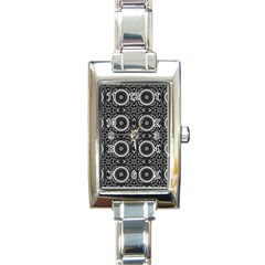 Oriental Pattern Rectangle Italian Charm Watch
