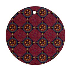 Oriental Pattern Round Ornament (two Sides)