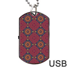 Oriental Pattern Dog Tag Usb Flash (one Side)