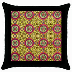 Oriental Pattern Throw Pillow Case (black)
