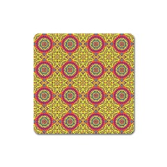 Oriental Pattern Square Magnet