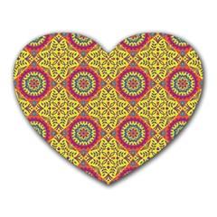 Oriental Pattern Heart Mousepads
