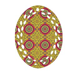 Oriental Pattern Oval Filigree Ornament (two Sides)