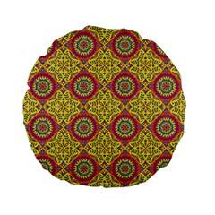 Oriental Pattern Standard 15  Premium Flano Round Cushions