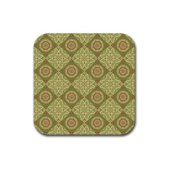 Oriental Pattern Rubber Square Coaster (4 Pack)