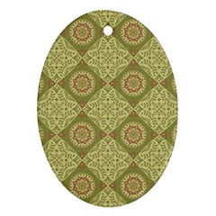 Oriental Pattern Oval Ornament (two Sides)