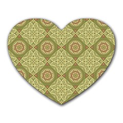 Oriental Pattern Heart Mousepads