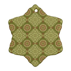 Oriental Pattern Snowflake Ornament (two Sides)