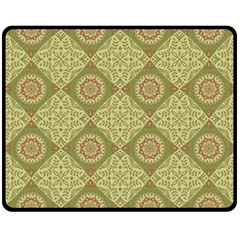 Oriental Pattern Double Sided Fleece Blanket (medium)