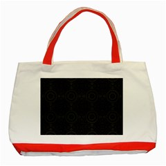 Oriental Pattern Classic Tote Bag (red)