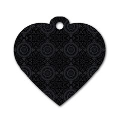 Oriental Pattern Dog Tag Heart (one Side)