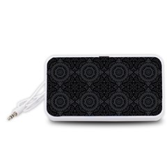 Oriental Pattern Portable Speaker (white)