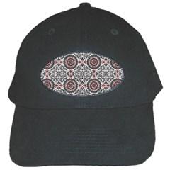 Oriental Pattern Black Cap