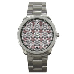 Oriental Pattern Sport Metal Watch
