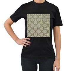 Oriental Pattern Women s T Shirt (black) (two Sided)