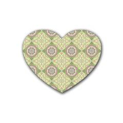 Oriental Pattern Rubber Coaster (heart)