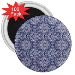 Oriental Pattern 3  Magnets (100 Pack)