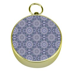 Oriental Pattern Gold Compasses