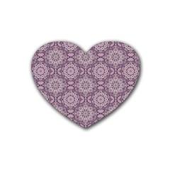 Oriental Pattern Heart Coaster (4 Pack)