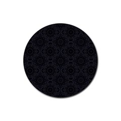 Oriental Pattern Rubber Round Coaster (4 Pack)