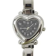 Oriental Pattern Heart Italian Charm Watch