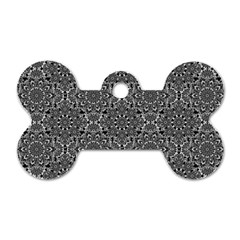 Oriental Pattern Dog Tag Bone (one Side)