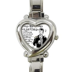 Rick Astley Heart Italian Charm Watch