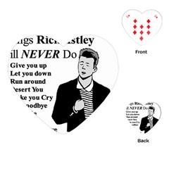 Rick Astley Playing Cards (heart)