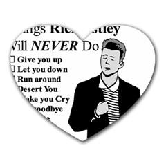 Rick Astley Heart Mousepads