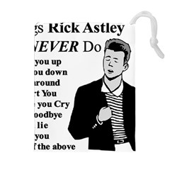 Rick Astley Drawstring Pouches (extra Large)