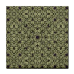 Stylized Modern Floral Design Tile Coasters