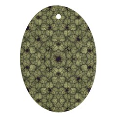 Stylized Modern Floral Design Ornament (oval)