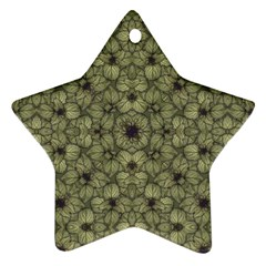 Stylized Modern Floral Design Ornament (star)