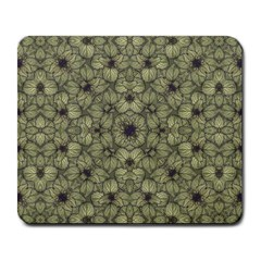 Stylized Modern Floral Design Large Mousepads